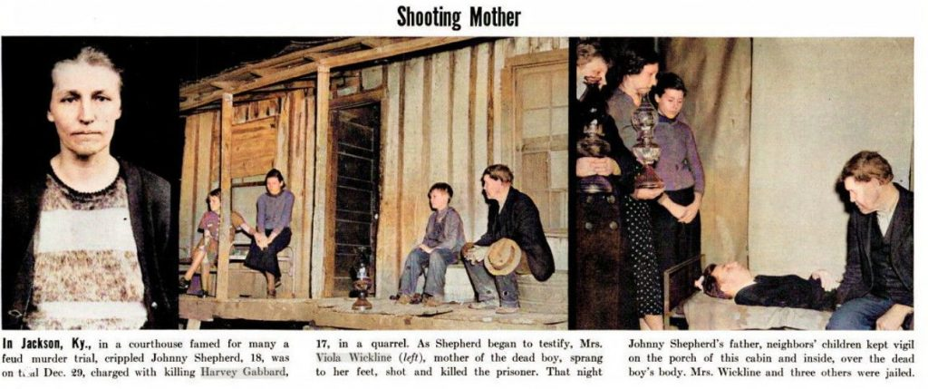 Excerpt from Life Magazine about Viola Wickline and Johnny Shepherd's funeral
